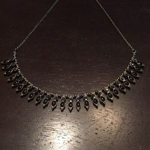 14th & Union collar necklace gold black and grey